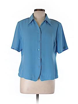 Liz Baker Short Sleeve Blouse Size 14 (Petite)