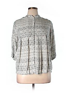 Carmakoma 3/4 Sleeve Blouse Size 12 Plus (XSS) (Plus)