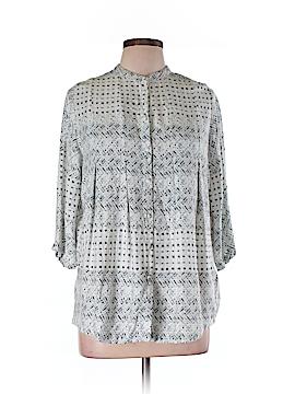 Carmakoma 3/4 Sleeve Button-Down Shirt Size XXS (Plus)