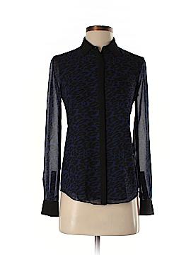 Armani Exchange Long Sleeve Silk Top Size XS