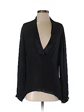La Fee Verte Long Sleeve Silk Top Size XS