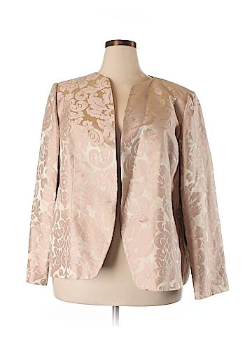 Linda Allard Ellen Tracy Silk Blazer Size 22 (Plus)