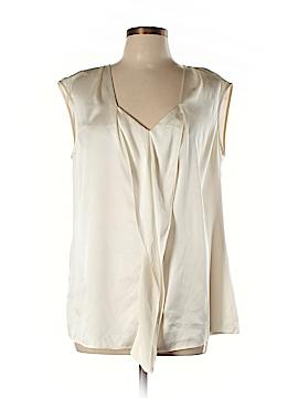 BOSS by HUGO BOSS Short Sleeve Silk Top Size 12