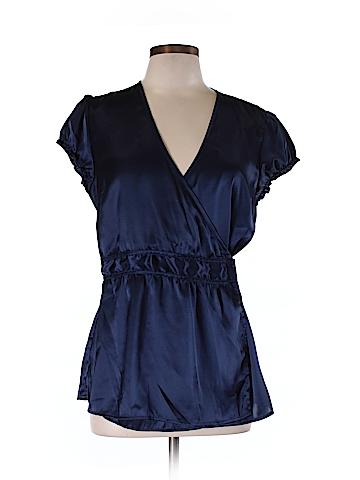 Charlotte Russe Short Sleeve Blouse Size L