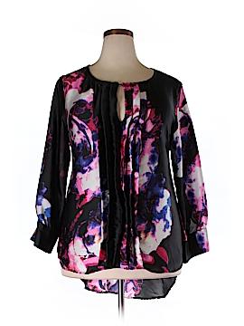 Melissa Masse Long Sleeve Silk Top Size 1X (Plus)