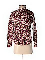 Lands' End Women Long Sleeve Button-Down Shirt Size 6 (Petite)