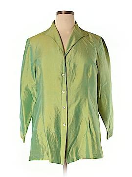 Avenue Long Sleeve Silk Top Size 14 (Plus)