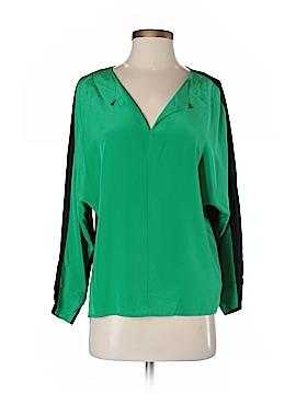 Ted Baker London Long Sleeve Silk Top Size 2 (0)