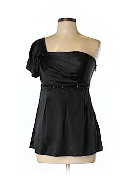 Betsey Johnson Short Sleeve Silk Top Size 8