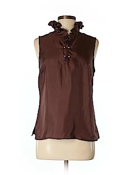 Elizabeth McKay Sleeveless Silk Top Size 6