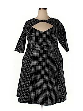 Cherry Velvet Casual Dress Size 1X (Plus)