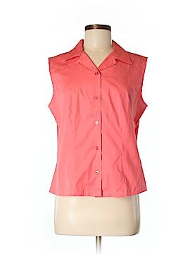 Westbound Sleeveless Button-Down Shirt Size M