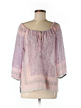 Velvet 3/4 Sleeve Blouse Size M