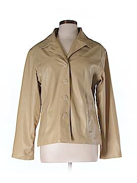 Renee Raquel Women Faux Leather Jacket Size L