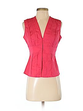 Moda International Sleeveless Button-Down Shirt Size S
