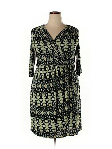 Lucie Lu Casual Dress Size 3X (Plus)