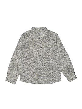 Bonpoint Long Sleeve Button-Down Shirt Size 8