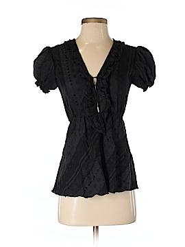 Christopher Deane Short Sleeve Blouse Size 4