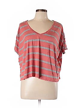 C & S Check & Stripe Short Sleeve T-Shirt Size M