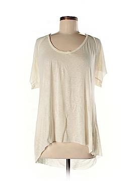 Mono B Short Sleeve Silk Top Size M