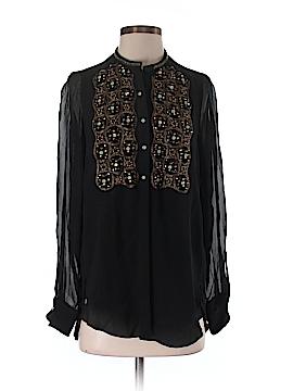 Saks Fifth Avenue Long Sleeve Silk Top Size 0