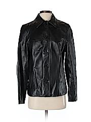 Nine West Women Leather Jacket Size S