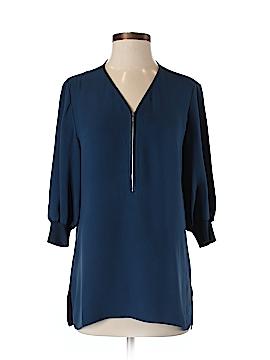 Lafayette 148 New York 3/4 Sleeve Silk Top Size P
