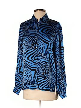 Robbie Bee Long Sleeve Silk Top Size S