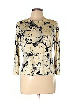 Anne Klein 3/4 Sleeve Silk Top Size L