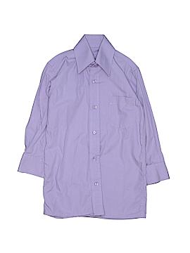 Ragazzo Uomo Long Sleeve Button-Down Shirt Size 4