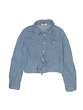 L.e.i. Long Sleeve Button-Down Shirt Size 7 - 8