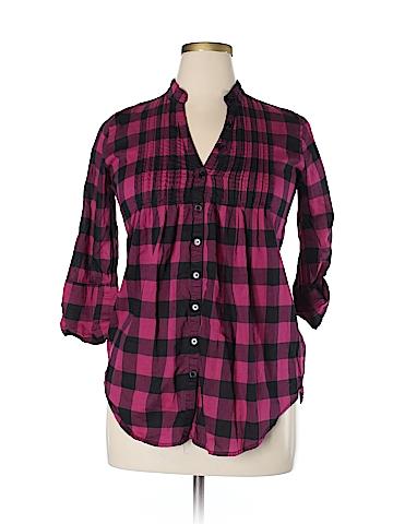 Miley Cyrus & Max Azria 3/4 Sleeve Button-Down Shirt Size XL