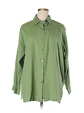 Silhoutte Long Sleeve Button-Down Shirt Size 1X (Plus)