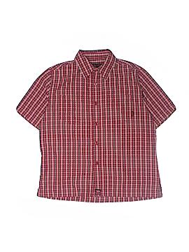 Hawk Short Sleeve Button-Down Shirt Size 8 - 20