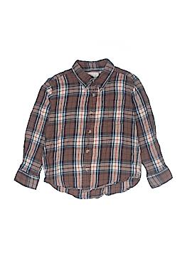 Peek... Long Sleeve Button-Down Shirt Size Medium kids 6-7