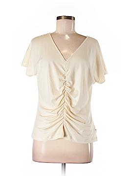 AKRIS Short Sleeve Silk Top Size 16