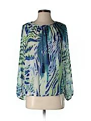Olivaceous Women Long Sleeve Blouse Size S