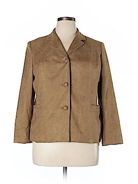 Elisabeth Faux Leather Jacket Size 14 (Petite)