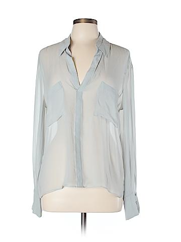 BCBGMAXAZRIA Long Sleeve Silk Top Size L