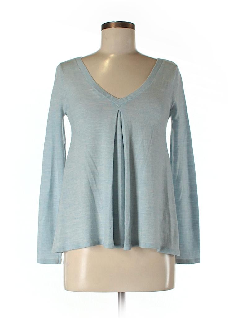 27b559b014 Club Monaco 100% Wool Solid Light Blue Wool Pullover Sweater Size XS ...