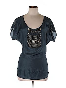 Biya Short Sleeve Silk Top Size M