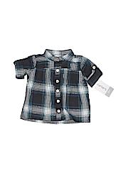 Carter's Girls Short Sleeve Button-Down Shirt Size 3 mo