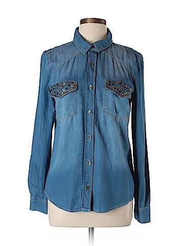 Mudd Long Sleeve Button-Down Shirt Size L