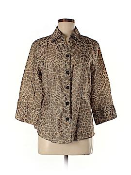 Westbound 3/4 Sleeve Button-Down Shirt Size M