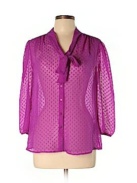 Cremieux 3/4 Sleeve Blouse Size L