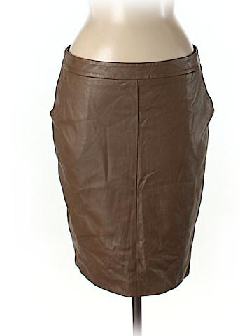 Trina Turk Leather Skirt Size 8