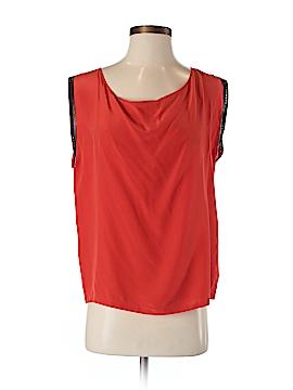 Maje Short Sleeve Silk Top Size Med (2)