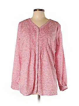 Lands' End Long Sleeve Button-Down Shirt Size 14 - 16