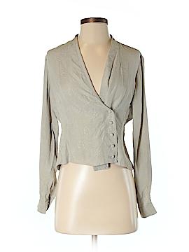 Liz Claiborne Long Sleeve Silk Top Size 4 (Petite)