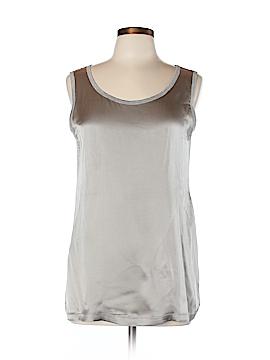 Peserico Sleeveless Silk Top Size 46 (IT)